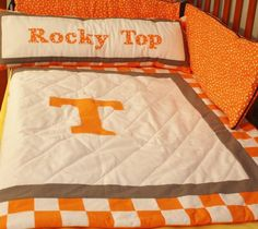 Baby University Of Tennessee Ut Quilt For My Friends