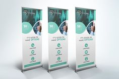 Medical Roll Up Banner by UNIK Agency on Creative Market - Graphic Templates Search Engine Business Brochure, Business Card Logo, Business Style, Corporate Business, Banner Template, Flyer Template, Rollup Design, Standing Banner Design, Standee Design