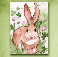 paintings of bunny in clover - AOL Image Search Results