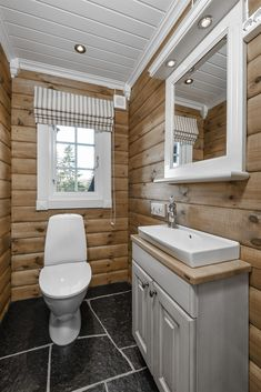Recent powder room reno ideas only in popi home design Cabin Homes, Log Homes, Home Design, Log Cabin Bathrooms, Rustic Bathroom Vanities, Rustic Vanity, Cabin Interiors, Wooden House, House Plans