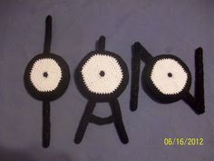 Kat's Creations: Unown (I,A,N)