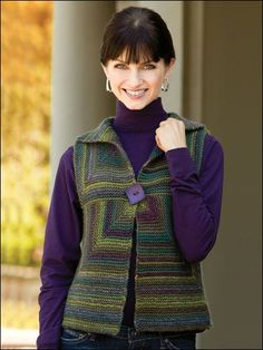 Knitting - Patterns for Wearables - Vest Patterns - Striped Modular Vest