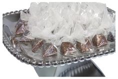 Chocolate Diamonds on tray, available in milk, dark and white chocolate