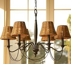 Pb basic silk chandelier shade set of 3 potterybarn 6 diameter graham chandelier wrought iron bronze chandeliers pottery barn online only different choices for aloadofball Images
