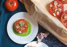 pieczone pomidory z czosnkiem