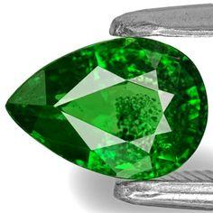 0.86-Carat Chrome Green Pear-Shaped Kenyan Tsavorite