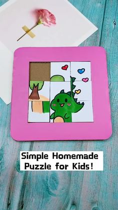 Diy Crafts For Girls, Diy Crafts To Do, Diy Arts And Crafts, Cute Crafts, Theme Animation, Puzzle Crafts, Cool Paper Crafts, Craft Activities For Kids, Miniature Food