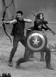 black widow, captain america, hawkeye, marvel