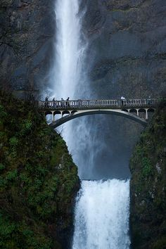 Mulltnomah Falls (Oregon)....i did not know this place existed...AND I CURRENTLY LIVE IN OREGON!!!! hello next road trip!