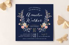 Customizable - Wildflower Crest Bridal Shower Invitations by Alethea and Ruth at minted.com