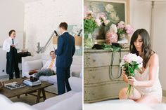 bride & groom preparation // Wedding photographer in Provence  Village Lacoste, Luberon Valley