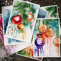 about Christmas mood ✨ #postcards #christmascards