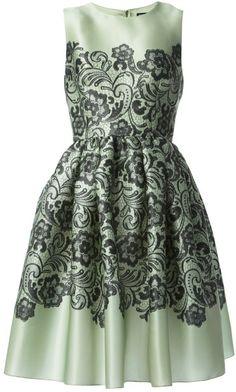 690c47eaa6 Dolce   Gabbana Green Floral Paisley Print Dress Vestido De Estampa  Paisley