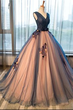 2019 New Navy Blue Lace Wedding Prom Dresses Formal Quinceanera Dress – Laurafashionshop Source by gowns elegant