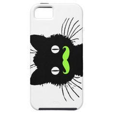 RETRO BLACK CAT FUNNY LIME GREEN MUSTACHE iPhone 5 CASE http://www.zazzle.com/retro_black_cat_funny_lime_green_mustache_case-179003270062862008?rf=238194283948490074&tc=pfz
