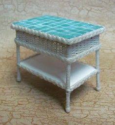 how to: wicker table with tile top