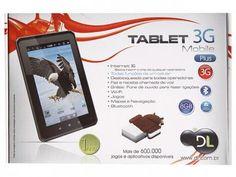 """Tablet DL Mobile Plus 3G Android 4.0 8GB Tela 7"""" - Multi Touch Wi-Fi Processador A10 Cortex A8 com as melhores condições você encontra no Magazine Mgzineeuevc. Confira!"""