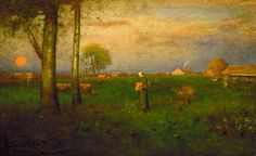 Sundown, George Inness (1825-1894)