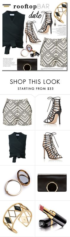 """""""Rooftop Bar date"""" by mslewis6 ❤ liked on Polyvore featuring Topshop, Gianvito Rossi, Scanlan Theodore, Odeme, Chloé, Rebecca Minkoff and Chanel"""