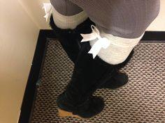 01c73b8b0bd SCHOLAR SOX (super-cute socks with bows). White BowsCute SocksKnee High ...