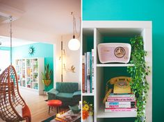 Kitschy Midcentury Home...also love all of these rooms. this one is a great midcentury modern update with a nod to kitsch. love it!