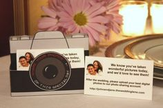 An idea for guests to share their digital photos of the wedding.