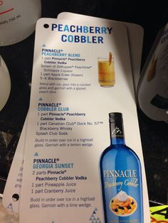 Pinnacle peachberry cobbler vodka drink mix recipes