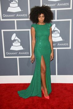 Solange Knowles at the Grammys 2013