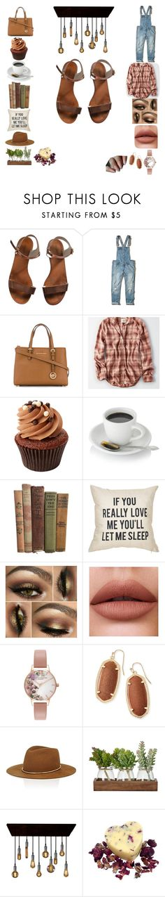 """""""*Enter Caption*"""" by kiwi01 ❤ liked on Polyvore featuring Emporio Armani, Hollister Co., Michael Kors, American Eagle Outfitters, Olivia Burton, Kendra Scott and Janessa Leone"""