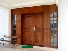 Doors, Oak Front Door, Tall Cabinet Storage, Living Room Modern, Wood Doors, House, Entrance Door Design, Home Projects, House Interior