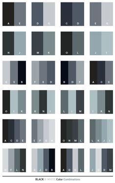 Color Scheme | Black & White color schemes, color combinations, color palettes for ...