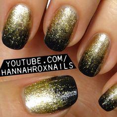 Black And Gold New Orleans Saints Nails Nails Pinterest Saints