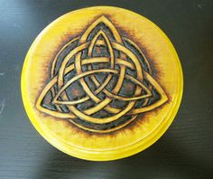Small Yellow Celtic Trinity Knot