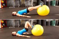 7. Stability Ball Hamstring Curl