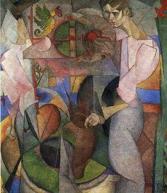 Diego Rivera — Woman at a Well via Diego RiveraMedium: oil on...
