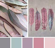 Palette gris rose parme