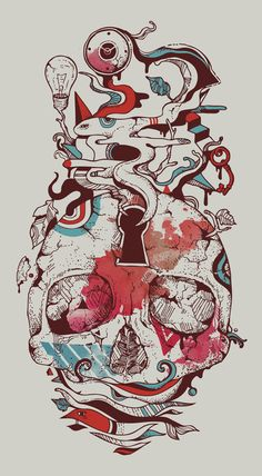 """Landscape of an Open Mind"" Art Print by Norman Duenas on Society6."