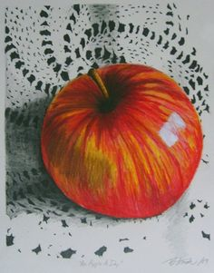 an apple a day by beverley amah on ARTwanted (colored pencil drawing)