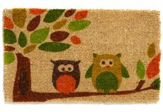 Changing out your doormat is an inexpensive way to dress up the outside of your apartment.