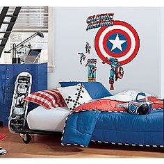 54 best Will\'s Captain America Room images on Pinterest | Child room ...