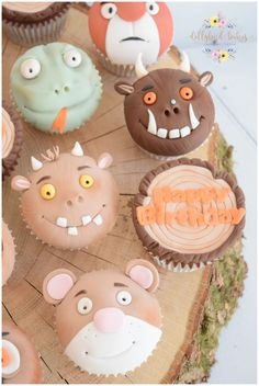 Handcrafted celebration cakes, suitable for every occasion. Dollybird Bakes has a wide selection of bespoke cakes available from her studio in Cornwall. Cocktail Cupcakes, Holiday Cupcakes, First Birthday Cakes, Birthday Cupcakes, 3rd Birthday, Childrens Cupcakes, Gruffalo Party, Creative Cake Decorating, Animal Cupcakes