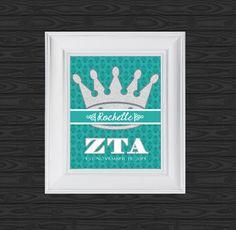 Greek life ZTA est. name design find it at Www.facebook.com/custom.designs.by.ana