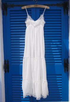 Summer Maxi Chiffon Dress.  Just imagine popping this on after a long hot day at the beach and a cool shower.