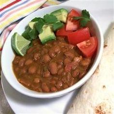 "Mexican Beans | ""You know this is a great recipe when my girlfriend from Mexico asks for the recipe."""