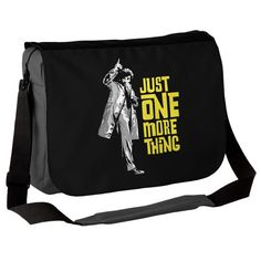 "Yay... Columbo!   ""This fab custom Just One More Thing messenger bag is inspired by the classic US TV series Columbo. In a world-renowned role made famous..."""