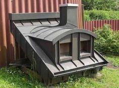 Komplettes Dach mit Gaube Fenster Schornstein Dachrinne Kupfer ** in
