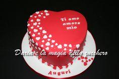 #Torta cuore #Heart cake #I love you cake #Ti amo #red passion #