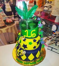 Mardi gras sweet 16 cake #carinaedolce www.carinaedolce www.facebook.com/carinaedolce Sweet 16 Cakes, Mardi Gras, Facebook, 16th Birthday Cakes