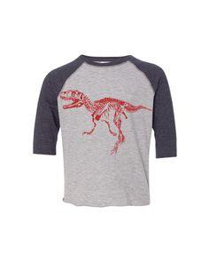 Toddler DINOSAUR Skeleton TRex Raptor Girls Boys by FreeBirdCloth