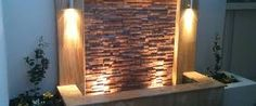 stacked stone wall fountain - Google Search
